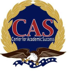 CAS, Center for Academic Success, Logo